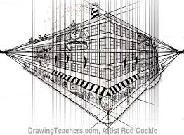 perspective drawings of buildings. 2-point Perspective Drawing Lesson 5 Drawings Of Buildings 2