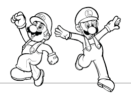 Free Mario Brothers Coloring Pages Coloring Pages Super Brothers