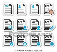 Resume Icons Beauteous Clipart Of CV Curriculum Vitae Resume Icons K60 Search