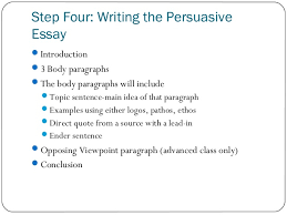 persuasive essay 10 step four writing the persuasive essay