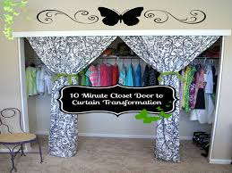 this 10 minute closet door to curtain transformation will give any room a beautiful facelift