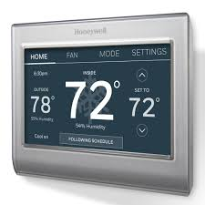honeywell smart wi fi 7 day programmable color touch thermostat 2 Wire Thermostat Home Depot honeywell smart wi fi 7 day programmable color touch thermostat, works with amazon alexa Home Depot Line Voltage Thermostat