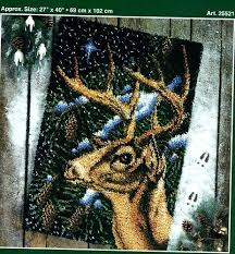 latch hook rug yarns j p coats winter deer latch hook rug pattern only no yarn or latch hook rug