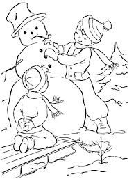 Small Picture 87 best Christmas Snowman Coloring Page images on Pinterest