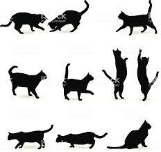 猫のシルエット イラストレーションのベクターアート素材や画像を多数