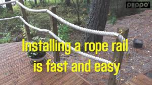 How to install a rope railing
