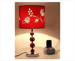 dark red lamp shade red table lamp shade red printed red crystal table lamp