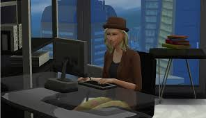 mod the sims writer work from home advertisement