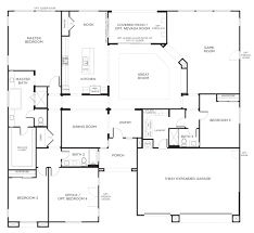 house plan wondrous 4 bedroom plans one story with bat