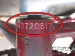 Bicycle Serial Number Chart Bike Serial Numbers