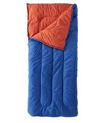 <b>Camp Sleeping Bag</b>, Cotton-Blend-Lined Regular 40°