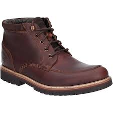 rockport mens marshall rugged leather moccasin ankle boots