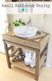 How To Build Your Own Small Bathroom Vanity Free Plans And Picture Tutorial At Mylove2crea Small Bathroom Vanities Wood Bathroom Vanity Bathroom Vanity Remodel