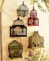 using bird cages for decor 66