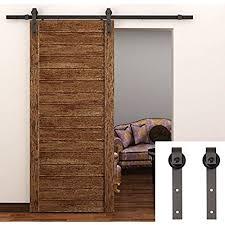 interior sliding door. TCBunny 6.6 Feet Country Steel Sliding Barn Wood Door Hardware Antique Style (Brown) Interior L