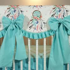 Dream Catcher Crib Bedding Set Stunning Dream Catcher And Arrows Custom Baby Bedding With Pink And Teal