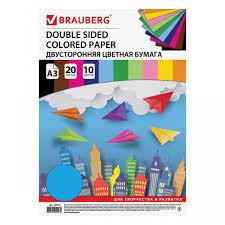 <b>Brauberg Цветная бумага</b> тонированная в масле А3 20 листов 10 ...
