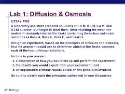 ap biology lab review ap biology lab diffusion osmosis ppt  6 ap