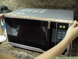 Microwave Size Chart How To Buy A Microwave Oven 5 Steps With Pictures Wikihow