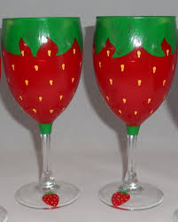 adorable strawberry wine gl set of 2 29 95