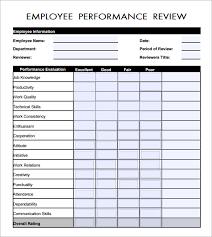 Restaurant Employee Performance Evaluation Form Free Employee Evaluation Forms Printable Cycling Studio