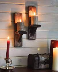 rustic candle holders candle wall