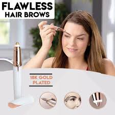 flawless brows with 18k gold plated eyebrow hair removal