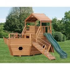 diy fort kit inspirational amish made 12 ft wooden tug boat playground set of 58 beautiful