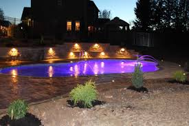 Inground pools at night Luxury 88 Salt Water Pools And Spa Cannon Pools And Spas Photo Gallery