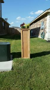 Decorative Utility Box Covers I covered my ugly utility pole with a tall planter style box made 2