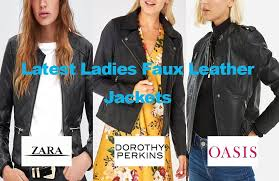 latest las faux leather look jackets