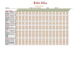 Salah Chart Maktab Salah Chart