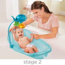 baignoire pour nouveau né à tout petit ocean buds de summer infant avec barre de jouets summer infant babies r us