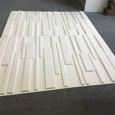 pvc brick 3d wall panels in matt white