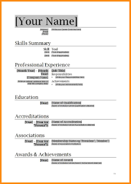 8 Download Simple Resume Format In Word Odr2017