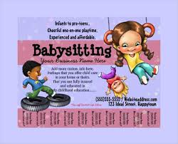 flyer free template microsoft word 11 babysitting flyers psd pdf