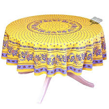french country tablecloth round yellow cotton coated tabcloth by cl i dream of tablecloths blue french country tablecloth