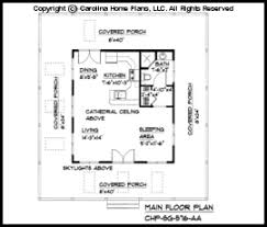 Tiny Cottage Style House Plan SG  Sq Ft   Affordable Small Home    SG  Main Floor Plan