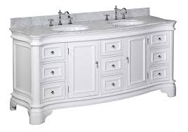 white bathroom vanities with marble tops. Beautiful Vanities Katherine 72inch Double Vanity CarraraWhite Includes White Cabinet  With Authentic Italian Carrara Marble Countertop And Ceramic Sinks  Amazon  On Bathroom Vanities With Tops M