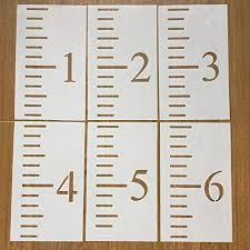 6 Feet Growth Chart Stencil Kids Height Growth Chart Reusable Ruler Template Painting On Wood Diy French Country Home Decor Rustic Decor For