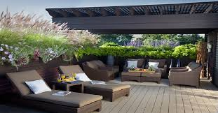 rooftop furniture. Partly Shaded Rooftop Deck Furniture N