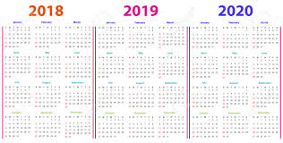 Editable 2015 2020 Calendar 12 Months Calendar Design 2018 2019 2020 Printable And Editable