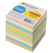 <b>Блок для записей</b> BRAUBERG непроклеенный, куб 9х9х9 см ...