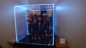 large acrylic 4 color led light display case by maybang s collectibles you