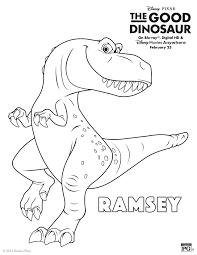 Disney The Good Dinosaur Ramsey Coloring
