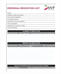 Medication Lists Templates Medication List Template For Free Jonandtracy Co