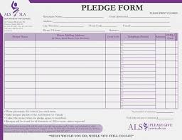 Fundraiser Pledge Form Template Now Is The Time For You To Form And Resume Template Ideas