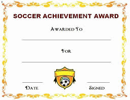 Download Award Certificate Templates 30 Soccer Award Certificate Template Pryncepality