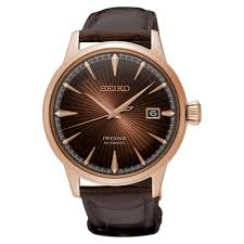 srpb46j1 presage rose gold brown leather automatic men 039 s watch