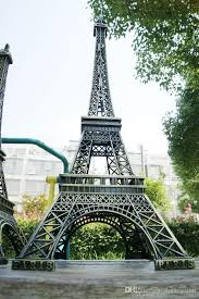 vintage design home decoration supplies 3d paris eiffel tower metallic model craft wedding gift shooting prop and great gift for friend